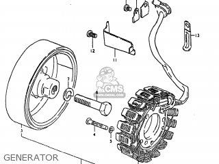 Suzuki Gs250t 1980 (t) Usa (e03) parts list partsmanual