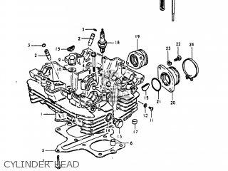 Suzuki GS250T 1981 (X) USA (E03) parts lists and schematics