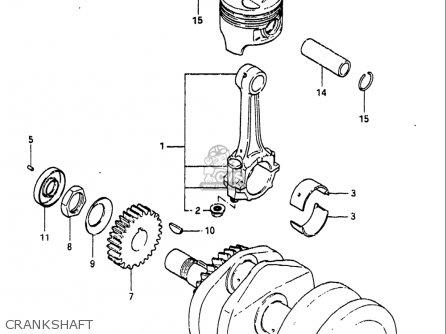 Suzuki Gs300 L 1982-1983 (usa) parts list partsmanual