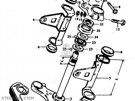 Suzuki Gs400 1978 (c) parts list partsmanual partsfiche