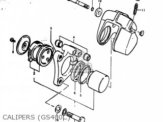 Suzuki Gs400 1978 (c) Usa (e03) parts list partsmanual