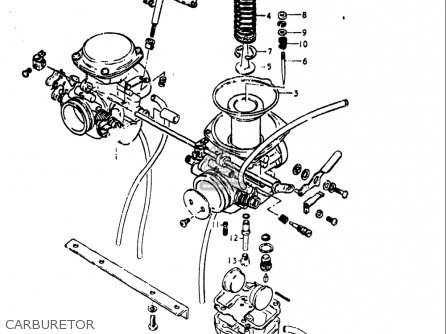 Suzuki Gs400 ,-x 1978 (usa) parts list partsmanual partsfiche