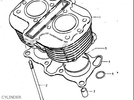 Suzuki Gs400 ,-x 1978 (usa) parts list partsmanual partsfiche