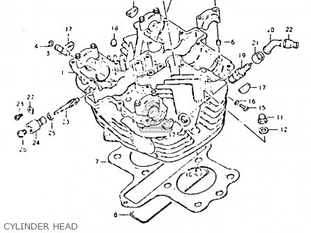 Suzuki Gs425 1979 (en) parts list partsmanual partsfiche