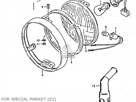 Suzuki Gs425 1979 (n) parts list partsmanual partsfiche