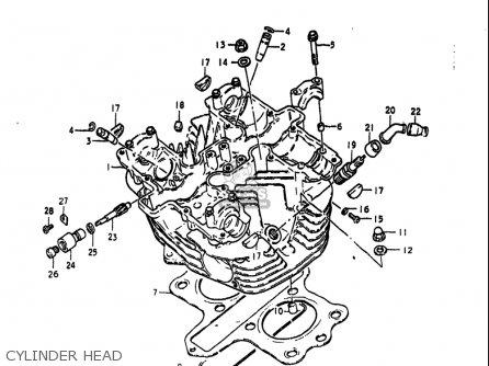Suzuki Gs425 ,-e 1979 (usa) parts list partsmanual partsfiche