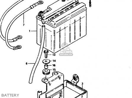 Suzuki Gs450 1982 (sd) parts list partsmanual partsfiche