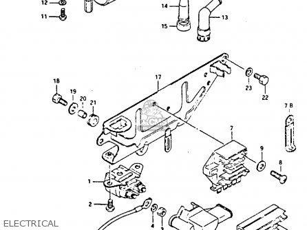 Suzuki Gs450 1985 (sf) parts list partsmanual partsfiche