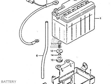 Suzuki Gs450 1988 (sj) parts list partsmanual partsfiche