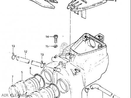 Suzuki Gs450 E 1983 (usa) parts list partsmanual partsfiche