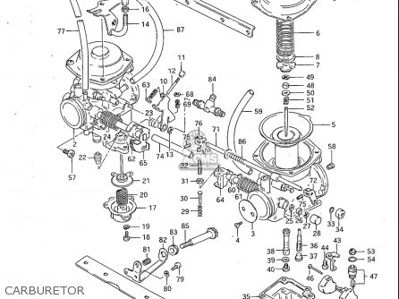 Suzuki Gs450 Ga 1982-1983 (usa) parts list partsmanual