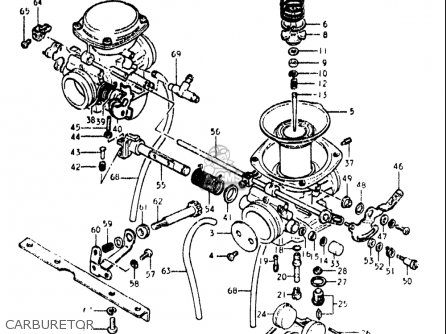 Suzuki Gs450 L 1980-1982 (usa) parts list partsmanual