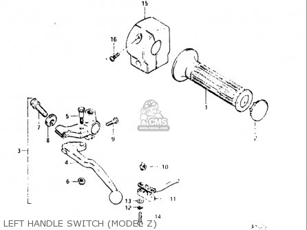 Suzuki Gs450 L 1980-1982 (usa) parts list partsmanual