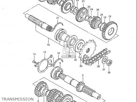Suzuki Gs450 L 1983 (usa) parts list partsmanual partsfiche