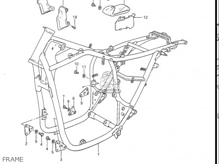 Suzuki Gs450 L 1985-1988 (usa) parts list partsmanual