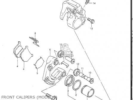 Suzuki Gs450 L 1985-1988 (usa) parts list partsmanual