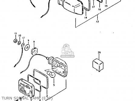 Suzuki GS450E 1980 (T) (E01 E02 E04 E17 E18 E21 E22 E24