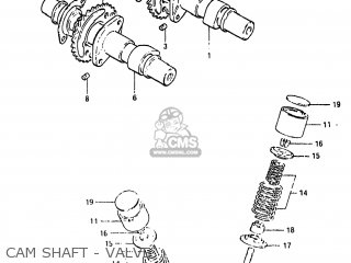 Suzuki Gs450e 1983 (d) Usa (e03) parts list partsmanual