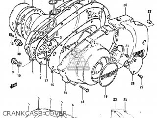 Suzuki Gs450e 1983 (d) Usa (e03) parts list partsmanual