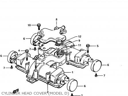 Suzuki Gs450e 1983 (d2) General Export (e01) parts list
