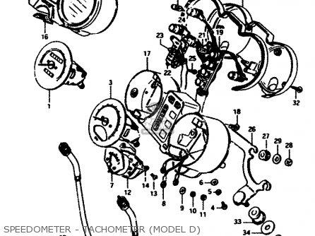 Suzuki GS450E 1983 (D2) GENERAL EXPORT (E01) parts lists