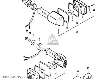 Suzuki GS450E 1988 (J) (E04 E22 E34 E75 E77) parts lists