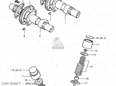 Suzuki GS450L 1980 (T) (E02 E21 E22 E24 E25) parts lists