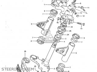 Suzuki Gs450l 1983 (d) Usa (e03) parts list partsmanual