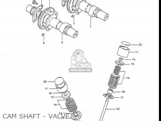 Suzuki Gs450l 1985 (f) Usa (e03) parts list partsmanual