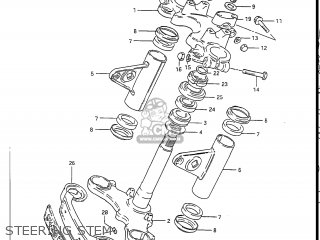 Suzuki GS450L 1985 (F) USA (E03) parts lists and schematics