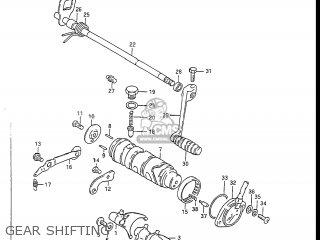 Suzuki GS450L 1986 (G) USA (E03) parts lists and schematics