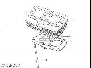 Suzuki GS450L 1988 (J) USA (E03) parts lists and schematics