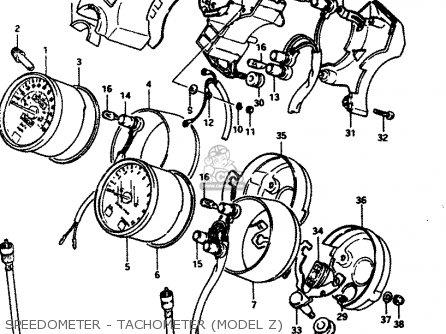 Suzuki GS450S 1982 (Z) GENERAL EXPORT (E01) parts lists