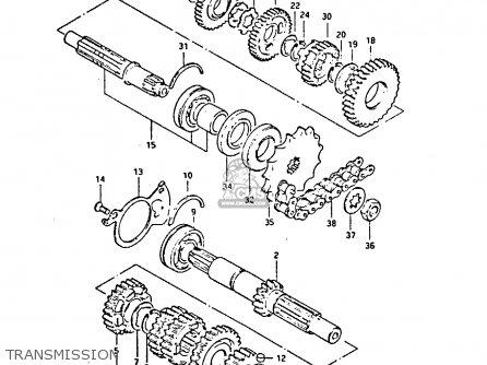 Suzuki GS450S 1988 (J) (E04 E22 E34 E77) parts lists and