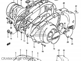 Suzuki Gs450tx 1983 (d) Usa (e03) parts list partsmanual