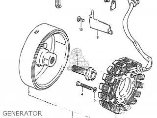 Suzuki Gs450tx 1983 (d) Usa (e03) parts list partsmanual