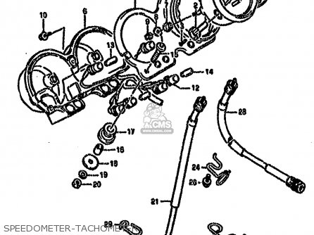 Suzuki Gs500 1990 (el) parts list partsmanual partsfiche