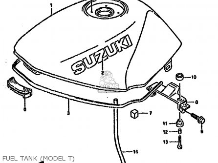 Suzuki Gs500 1993 (ep) parts list partsmanual partsfiche