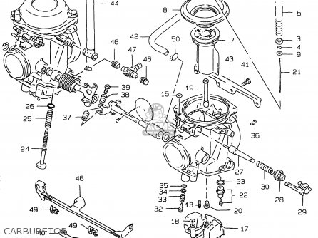 Suzuki Gs500 1997 (euv) parts list partsmanual partsfiche