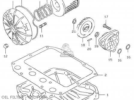 Suzuki Gs500 1997 (ev) parts list partsmanual partsfiche