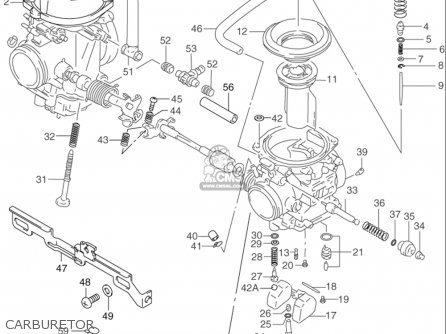 Suzuki Gs500 2001-2002 (usa) parts list partsmanual partsfiche