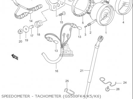 Suzuki Gs500 F 2004-2006 (usa) parts list partsmanual