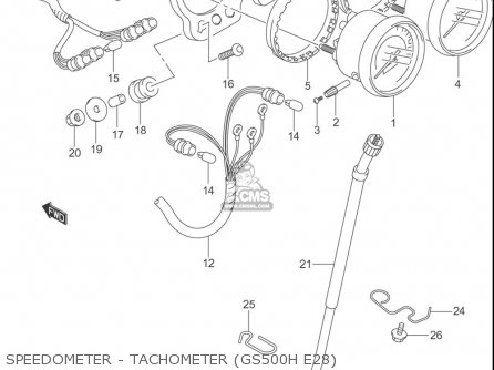 Suzuki Gs500 F (usa) parts list partsmanual partsfiche