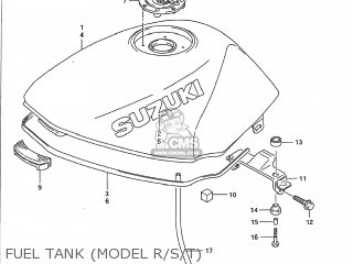 Suzuki Gs500e 1993 (p) Usa (e03) parts list partsmanual