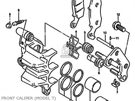 Suzuki Gs500esk 1995 (s) Brazil (e37) parts list