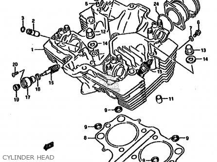Suzuki GS500EU 1989 (K) GERMANY (E22) parts lists and