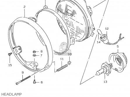 Suzuki GS500EU 1997 (V) (E04 E22 E39) parts lists and