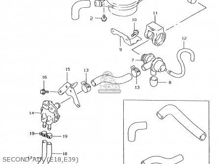 Suzuki Gs500eu 1997 (v) (e04 E22 E39) parts list
