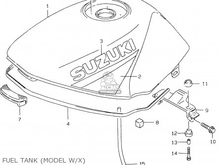 Suzuki Gs500eu 2000 (y) parts list partsmanual partsfiche