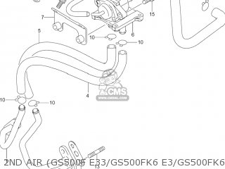 Suzuki GS500F 2004 (K4) USA (E03) parts lists and schematics